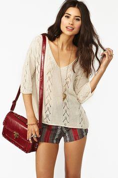 #Knit #NastyGal #Shorts #Bag #Leather #Fashion #FashionCherry