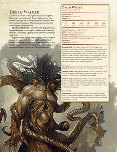 DnD Homebrew — Witcher Monsters by Regerem Dungeons And Dragons Homebrew, D&d Dungeons And Dragons, Fantasy Creatures, Mythical Creatures, Dnd Stats, Dnd Monsters, Witcher Monsters, Dnd 5e Homebrew, Dragon Rpg