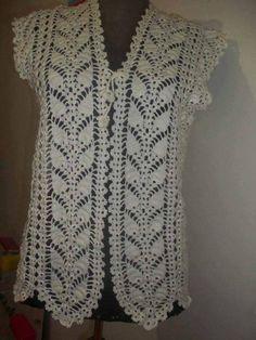crochet bolero ,pineapple stitch, free pattern ,