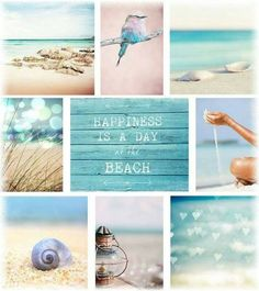 Discovering new types of mood boards. I Love The Beach, Summer Of Love, Pretty Beach, Toile Photo, Pot Pourri, Beach Please, Color Collage, Mood Colors, Beautiful Collage