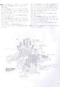 """Photo from album """"Flower Arrangement"""" on Yandex. Embroidery Works, Embroidery Patterns, Hand Embroidery, E30, Chinese Book, Embroidered Flowers, Views Album, Charts, Flower Arrangements"""