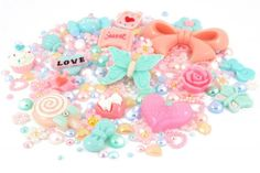 Dreamboats 50s Pastel Cabochon Rhinestone Pearl Set Kit. #Kawaii #Craft
