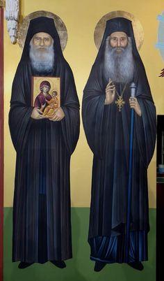 Sf. Porfirie Kavsokalivitul și Iacov din Evvia Prophets In Islam, Saint Barbara, Pray Always, Orthodox Icons, Christian Art, Style Icons, Saints, Religion, Pictures