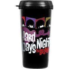Beatles Travel Mug Hard Days Night Car Cupholder Coffee Mug With Lid