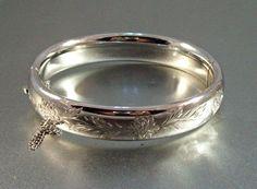 Vintage Ballou Sterling Bangle Bracelet  by LynnHislopJewels