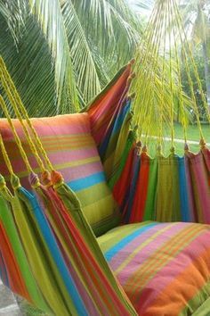 Hanging Hammock Chair – Pure Bliss Balkon – home accessories Hanging Hammock Chair, Hammock Swing, Swinging Chair, Hammock Ideas, Hammocks, Room Hammock, Outdoor Spaces, Outdoor Living, Outdoor Decor