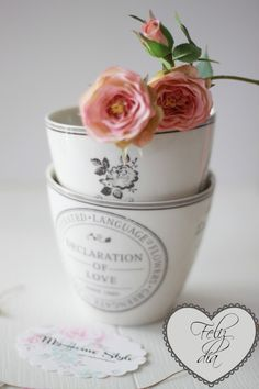 Latte cups. Or vases. Or catchalls... --greengate  Dora