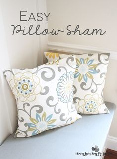 Easy Pillow Sham Cover! If you can sew four straight lines, you can create your own pillow cover too!