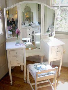 Vintage White Vanity/Dressing Table