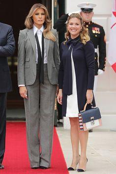 Мелания Трамп и Софи Грегуар в Белом доме 12 Октября 2017