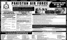 Pakistan Air Force PAF Jobs 2015 MBBS Jobs, Mechanical Engineers Jobs, Medical Jobs, Newspaper Jobs in Pakistan, PH.d Jobs ,Principal Jobs ,Professors Jobs