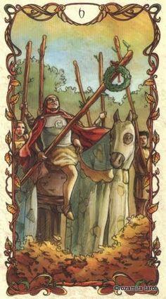 Six of Wands - Mucha Tarot