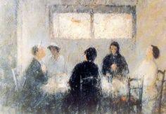 Τριανταφυλλίδης Θεόφραστος-Συνδαιτημόνες Painters, Greece, In This Moment, Grease