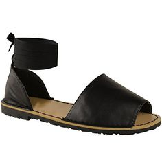 3852eb3663bc Fashion Thirsty Womens Summer Menorcan Ankle Tie Strap Sandals Flip Flop  Beach Shoes Size 7     Read more at the image link.