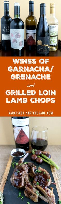 #Ad Wines of Garnacha/Grenache and Grilled Loin Lamb Chops. If you've never tried the Wines of Garnacha/Grenache, you are missing out! These wines pair well with almost every food, and are delicious to drink all by themselves. Try them all, you will love them