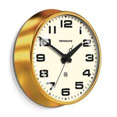 Newgate Clocks Brixton Wall Clock - Radial Brass / White Dial