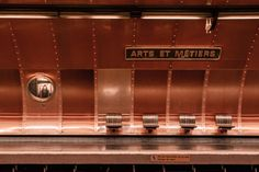 Station Arts et Métiers Metro Paris, Louvre, Metro Station, Light Architecture, Paris France, Parisian, Transportation, Routine, Jules Verne