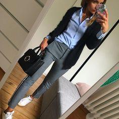 Outfit  #ootd#dailylook#dailypost#dailyoutfit#instalook#instafashion#fashionpost#fashiondiares#fashionblogger#wiwt#picoftheday#mystyle#boyish chemise/pantalon#zara gilet#americanvintage baskets#isabelmarant sac#claudiepierlot