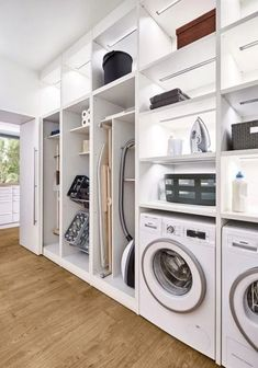 58 Stylish Laundry Room Design Ideas To Inspiring You > Fieltro.Net room ideas modern stylish laundry room design ideas to inspiring you 10 > Fieltro. Laundry Room Remodel, Laundry Room Cabinets, Basement Laundry, Laundry Closet, Garage Laundry, Bathroom Closet, Bathroom Mirrors, Room Arrangement Ideas, Modern Laundry Rooms