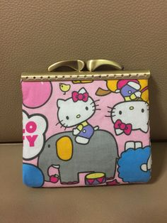 Hello Kitty Zoo square clasp coin purse by Elvesatwork on Etsy