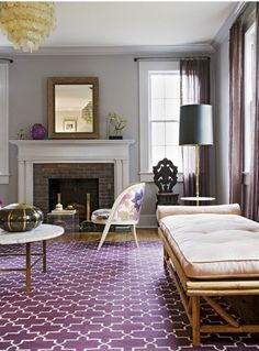 19 Decorating With Purple Ideas Purple Rooms Purple Living Room Home Decor