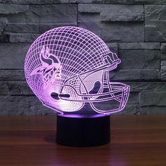 NFL MINNESOTA VIKINGS 3D LED LIGHT LAMP