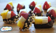 Banana-Split-Bites: great for a kids summer party