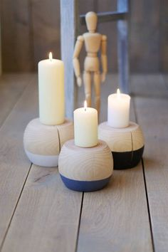 Wooden candle holder Candle holders Home decor Wedding table Scandinavian Candle Holders, Wooden Candle Holders, Candlestick Holders, Candlesticks, Decor Wedding, Wedding Table, Wedding Decorations, Table Decorations, Pillar Candles