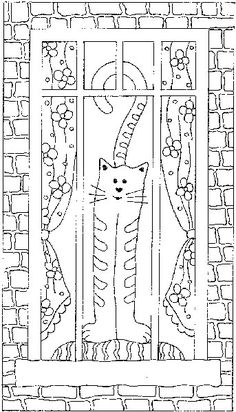 Window Cat, Rug Pattern on Lin | The Woolery