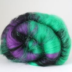 Poison, by Spun Right Round. Her batts are beyond gorgeous and her yarn is so much fun!