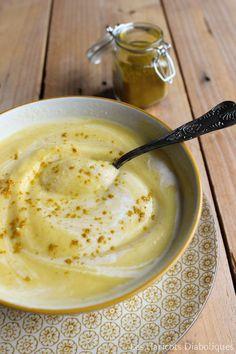Velouté de chou fleur au curry et lait de coco (4)