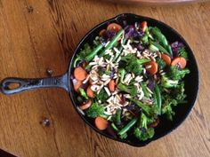 Broccoli, Green Beans, Carrots and Almonds Stir Fry