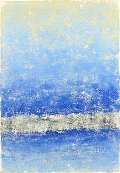 Pruh v modré (Stripe in Blue) 70x50 2016