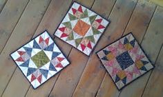 star blocks I finished as little quilts