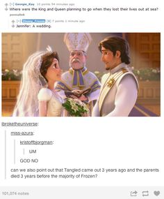 The reason the king and queen in Frozen died at sea.