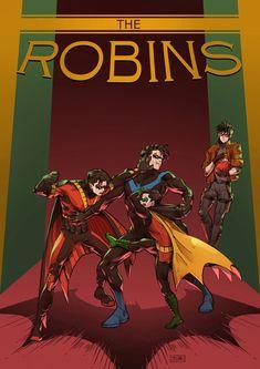 One Shots [Dc comics] Nightwing, Batgirl, Batman Robin, Robins, Tim Drake Red Robin, Bat Boys, Batman Beyond, Dc Memes, Dc Comics Art