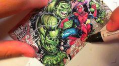 ★Nar! Hulk vs Spiderman sketch card color process★