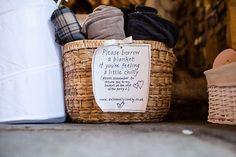 Fun Filled Peachy Country Barn DIY Wedding Blankets http://binkynixon.com/