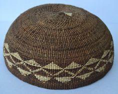 Native American Indian HUPA Area Bowl or Work Hat Circa 1900 Brown | eBay