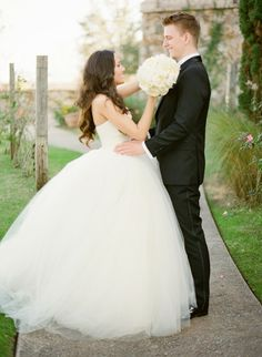 I really love the puffy dress! Dress: Vera Wang Jessica + Ben ~ Romance at Bella Collina, Montverde