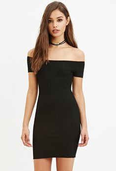 Off-the-Shoulder Bodycon Dress | FOREVER 21 created by #ShoppingIS