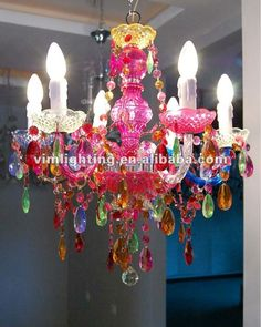 colorful chandelier,multi color chandelier