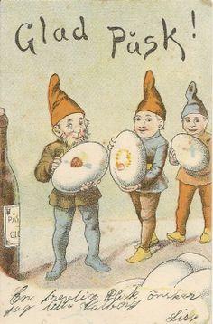 Tradera ᐈ Köp & sälj begagnat & second hand All Nature, Vintage Easter, Vintage Cards, Elves, Easter Eggs, Winnie The Pooh, Sweden, Fantasy Art, Scandinavian