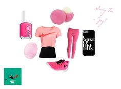"""""""Jog"""" by animaljam-rocks21 ❤ liked on Polyvore featuring Theory, NIKE, Eos and Essie"""