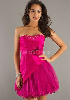 Fancy Baby Doll Satin Short Natural Waist Cocktail Prom Dress