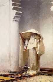 Just ordered a beautiful silver frame for a poster of this John Singer Sargent painting for my bathroom!! Yippee. So exotic.
