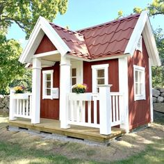 Village House Design, Village Houses, Play Houses, Playhouse Decor, Playhouse Outdoor, Playhouse Ideas, House Construction Plan, Kids Play Area, Kids Room