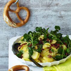 Kartoffelsalat mit Brunnenkresse