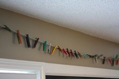 homeschool room ideas | Homeschool Room ideas / My own diy colorful clothespins for displaying ...