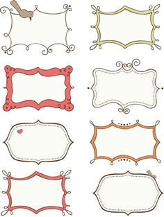 Doodle Frames and Border - Free Printables (I think I'll see if I can turn these into vectors . Printable Labels, Free Printables, Printable Frames, Labels Free, Banners, Doodle Frames, Ideias Diy, Borders And Frames, Borders Free